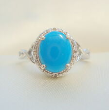 1.78ct Arizona Sleeping Beauty Turquoise & Diamond Ring