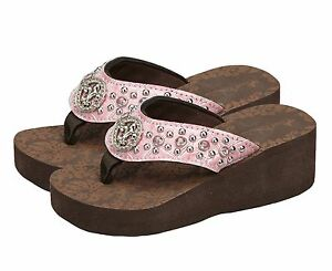 Montana West Summer Flip Flops Kids Wedge Sandals Girls Shoes Footwear 9 10 1112