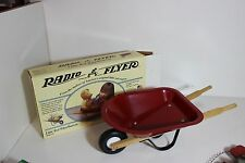 Collectible Mini Radio Flyer Wheel Barrow for Dolls or Bears with box