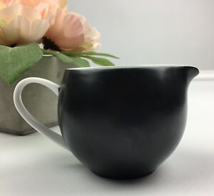 Coffee Creamer Couturee Fine Translucent China Nuit Black Japan Cannonball