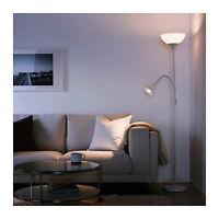 IKEA NOT Floor Uplight / Reading Dual Lamp Double Twin Lights Uplighter White