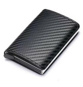 Portafoglio Uomo Slim in pelle verticale porta carte di credito protezione rfid