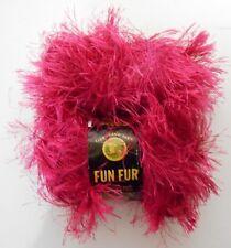 Lion Brand Fun Fur Eyelash 2 balls  Raspberry Polyester Yarn 1.75 oz 50 g 756