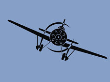 "Monoplane Vinyl Decal Airplane Wall Decal Graphics for Children 35""x13"""