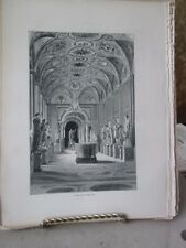 Vintage Print,MUSEO PRO CLEMENTINE,Rome,Francis Wey,1872