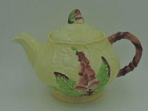 Rare! Vintage Carlton Ware Foxglove Yellow Teapot 2 1/2 Cups