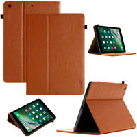 """Luxury Leder Schutzhülle für Apple iPad 2017 9,7"""" Tablet Tasche Cover Case braun"""