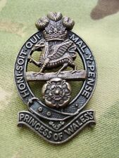 British Army PWRR Princess Of Wale's Royal Regiment Cap/Beret Badge Genuine New!