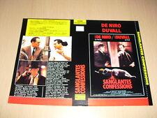 JAQUETTE VHS Sanglantes Confessions Robert Duvall Robert De Niro