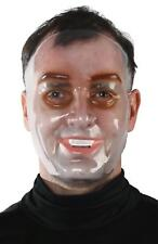 ADULT CLEAR TRANSPARENT YOUNG MALE FACE MASK HALLOWEEN COSTUME MR139016