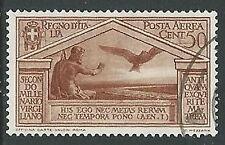 1930 REGNO USATO POSTA AEREA VIRGILIO 50 CENT - U33-3