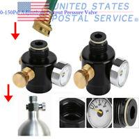 0-150psi Output Adjustable Compress Air Regulator Paintball PCP 0.825-14NGO