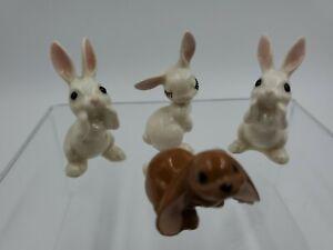 Hagen Renaker Lop Eared Flirty Whispering Bunny Rabbit Miniature Figurine VTG 4