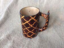 Vintage 1955 Souvenir Giraffe Wood Cup or Mug