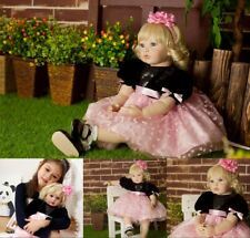 """More details for lifelike dolls newborn baby 24"""" soft silicone handmade real like xmas toy gift"""