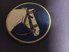 Iron On Patch -  Horse Head Blue/White