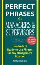 Perfect Phrases: Perfect Phrases for Managers and Supervisors : Hundreds of Rea…