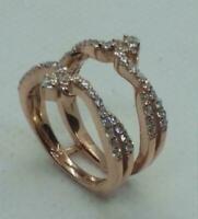 Valentine Gift 14K White Gold Over 1.76 Ct Baguette Diamond Wrap Enhancer Ring