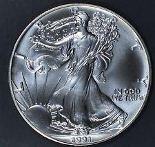1991 1 oz AMERICAN SILVER EAGLE BRILLIANT UNCIRCULATED ASE  SKU1991B
