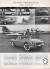 1963 MG Sports Sedan British Motor Corporation - Lockheed F-104 Pilot PRINT AD