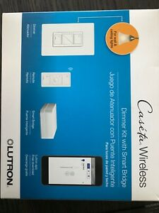 Lutron Electronics P-BDG-PKG1W-C Caseta Wireless Dimmer with Smart Bridge -...