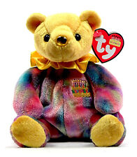 "TY Beanie Baby ""November"" Yellow Birthday Bear. New with tags"