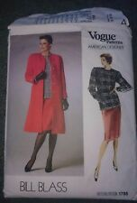 Part Used 80's Vogue Bill Blass Coat Skirt Top Dynasty Power Shoulder