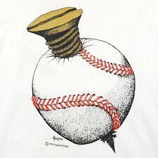 Vintage 1994 Screwball Screw Baseball Anvil Single Stitch Rare X-Large Strike