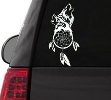 I125 TWO WOLVES W/DREAMCATCHER NEW AGE YETI CUP  DECAL CAR TRUCK  LAPTOP SURFACE