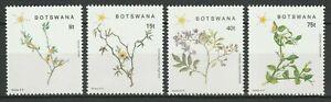Botswana 1988 Flowers Plants 4 MNH stamps