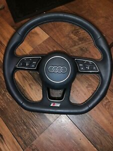 AUDI S3 2017 COMPLETE LEATHER MULTI FUNCTION STEERING WITH AIRBAG