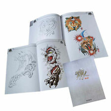 64 Pages Wolf Collection Tattoo Art Designs Flash Manuscript Sketch Line Book