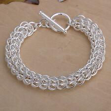 Damenarmband Kordel 10 mm Schmuck 20cm Armband pl. mit Sterlingsilber DA016 T::A