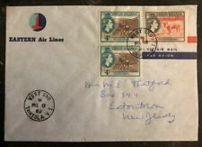 1960 Tortola British Virgin Islands  Cover To Easton NJ USA Eastern Airlines