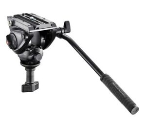 Manfrotto MVH500A Pro Fluid Video Head with 60mm Half Ball Flat Base. Free Ship