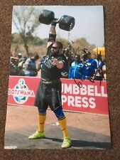 Konstantine Janashia Hand Signed 12 x 8 Photograph World's Strongest Man Coa