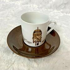 """Mitterteich Porzellan Bavaria Klok 3"""" Lantaarnkl 6 Cup and Saucer Vintage Rare"""