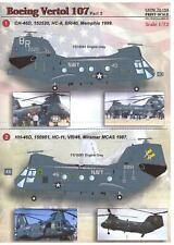 Print Scale Decals 1/72 Boeing Vertol 107 Helicopter U.S. Navy Part 2