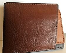 Fossil Randy Bifold 2 IN 1 Wallet and Card Case RFID Brown Leather NWT