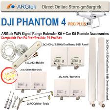 ARGtek DJI Phantom 4 PRO+/PRO/ADV, 4, 3 PRO/Adv Range Extender Kit+Car Kit
