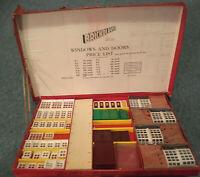 Vintage BRICKPLAYER Kit Spears Games Building WINDOWS & DOORS BRICKS incomplete