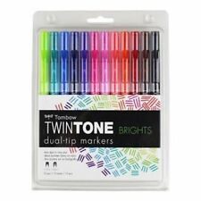 Tombow Twin Tone Dual Tip Markers - Brights - 61500