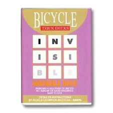 Blue Invisible Deck Bicycle TOP selling card magic trick Dynamo