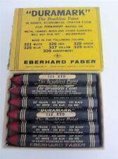 Duramark Brushless Paint Eberhard Faber Red 326 Box 12 Unused Vintage Crayon Set