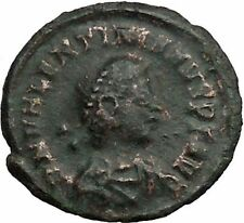 Valentinian II 378AD Authentic Ancient Roman Coin Wreath of success  i36352