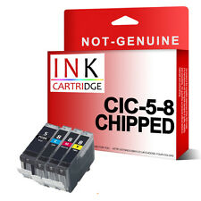 4 Chipped Ink Cartridge PGI5 CLI8 Replace for iP3300 iP3500 MP510 MX700 printer