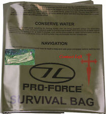 NEW EMERGENCY SURVIVAL BAG OLIVE Camping Bushcraft h