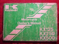 Kawasaki Owner's Manual KX125 KX250 KX500 99920-1545-01 -broken spine