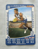 2012  NORTH MELBOURNE KANGAROOS WEETBIX AFL CAPTAIN CARD - ANDREW SWALLOW
