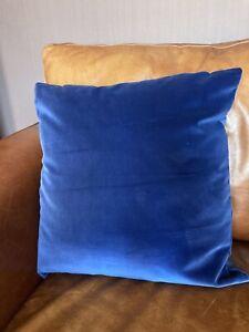 Harlequin Cushion Cover Cotton Velvet Persian Blue Plain Soft Heavy Dark Navy